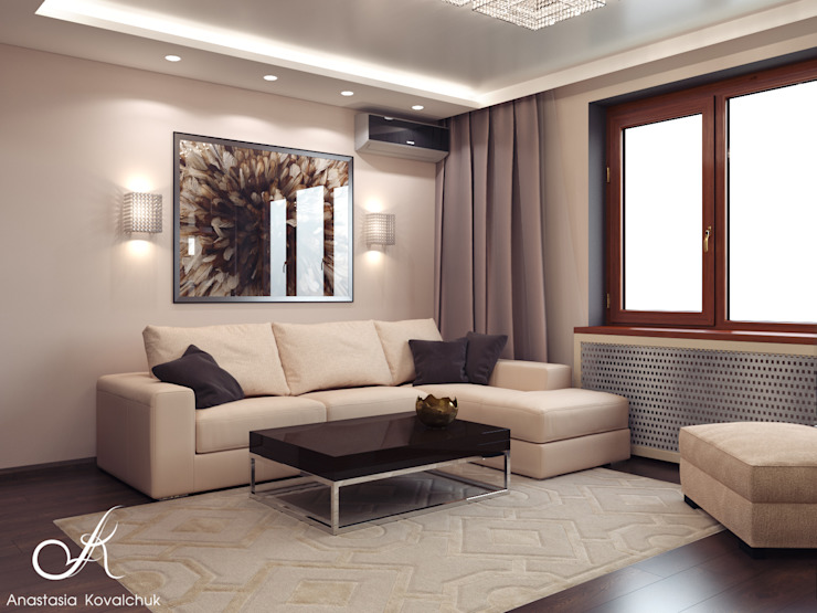 Apartment in Moscow Modern Living Room by Design studio by Anastasia Kovalchuk Modern