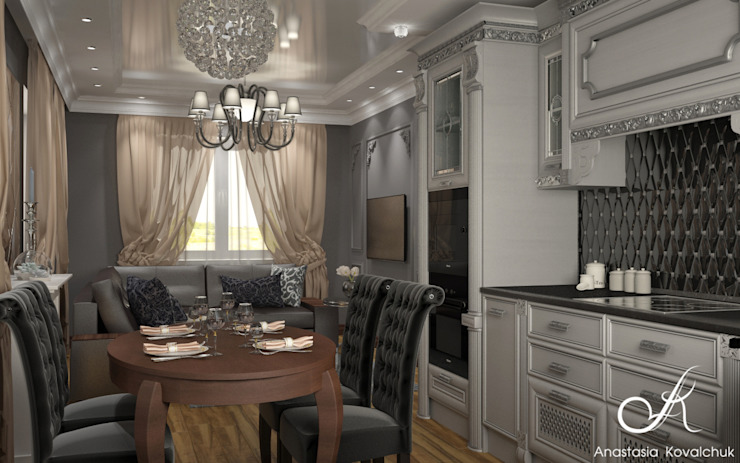 Townhouse in style of an art deco Classic style dining room by Design studio by Anastasia Kovalchuk Classic