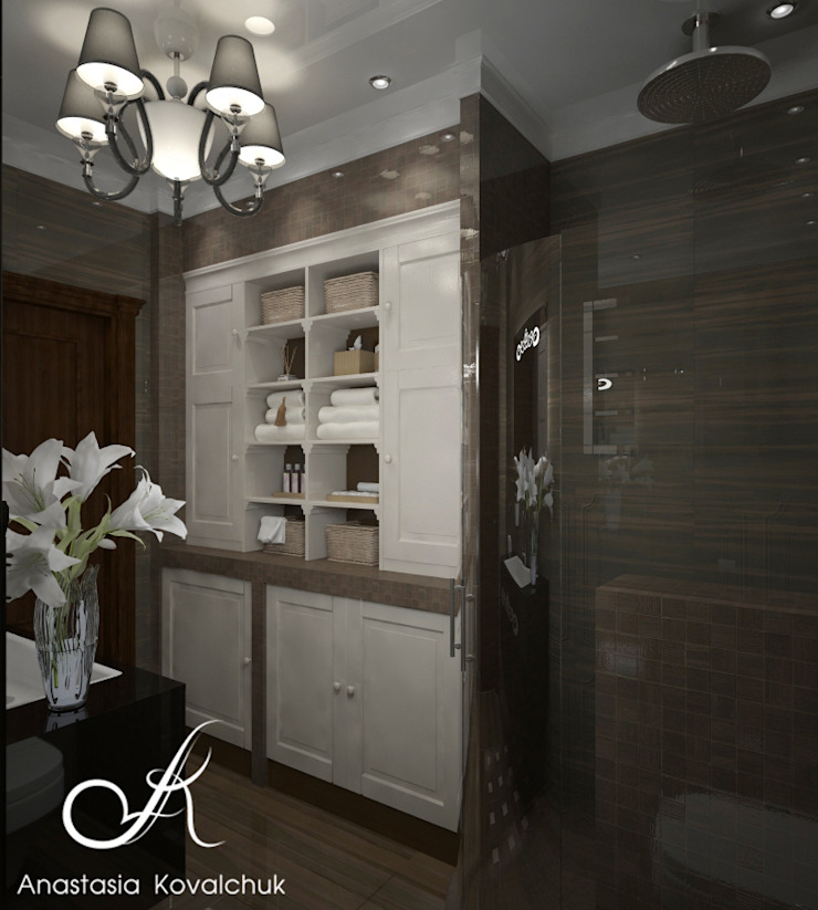 Townhouse in style of an art deco Classic style bathroom by Design studio by Anastasia Kovalchuk Classic