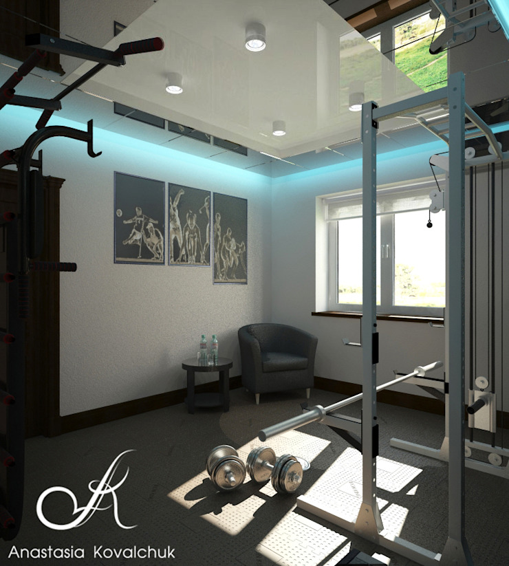 Townhouse in style of an art deco Classic style gym by Design studio by Anastasia Kovalchuk Classic