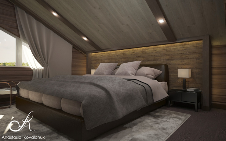 Townhouse in style of an art deco Classic style bedroom by Design studio by Anastasia Kovalchuk Classic