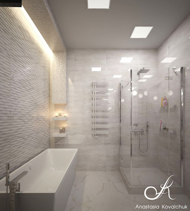 Apartment in a modern style in Moscow Modern Bathroom by Design studio by Anastasia Kovalchuk Modern