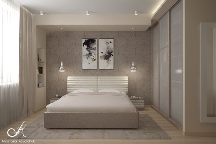 Modern style bedroom by Design studio by Anastasia Kovalchuk Modern