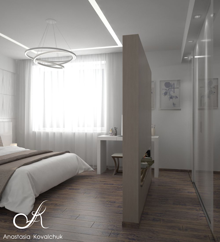 Apartment in a modern style in Moscow Modern Bedroom by Design studio by Anastasia Kovalchuk Modern
