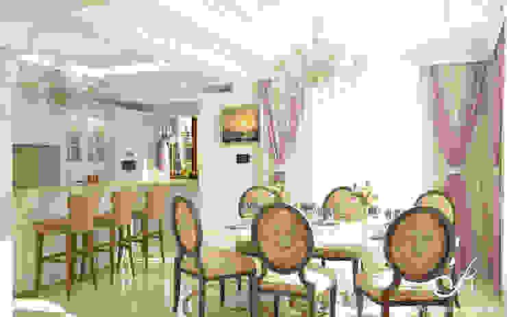Villa:  Dining room by Design studio by Anastasia Kovalchuk, Classic