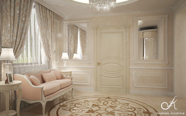 Villa Classic style corridor, hallway and stairs by Design studio by Anastasia Kovalchuk Classic