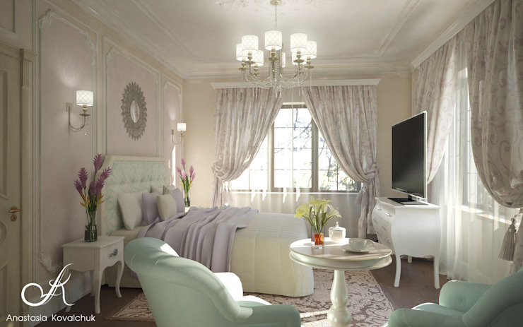 Classic style bedroom by Design studio by Anastasia Kovalchuk Classic