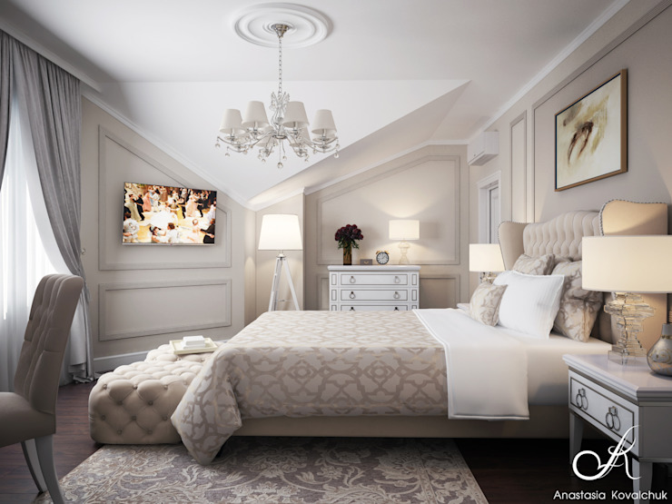 Bedroom by Design studio by Anastasia Kovalchuk,