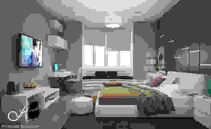Cuartos de estilo moderno de Design studio by Anastasia Kovalchuk Moderno