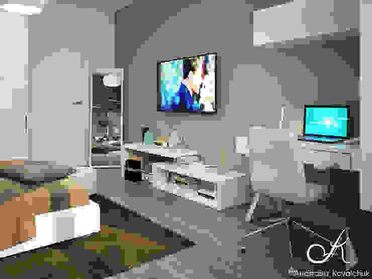 Moderne Schlafzimmer von Design studio by Anastasia Kovalchuk Modern