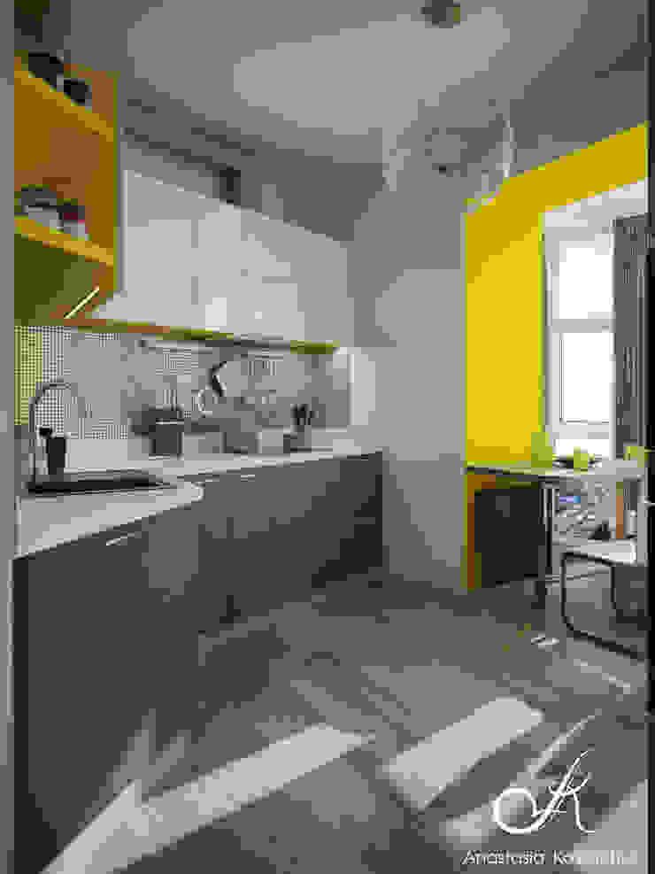 Moderne Küchen von Design studio by Anastasia Kovalchuk Modern