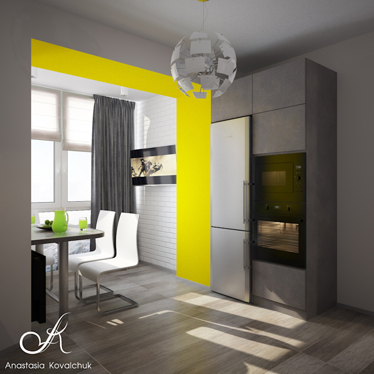 Apartment in a modern style in Moscow Modern Kitchen by Design studio by Anastasia Kovalchuk Modern