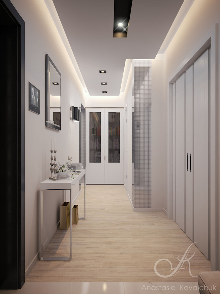 Apartment in a modern style in Moscow Modern Corridor, Hallway and Staircase by Design studio by Anastasia Kovalchuk Modern