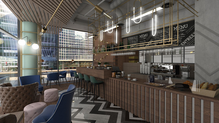 Eclectic coffee shop by emc|partners Eclectic Iron/Steel