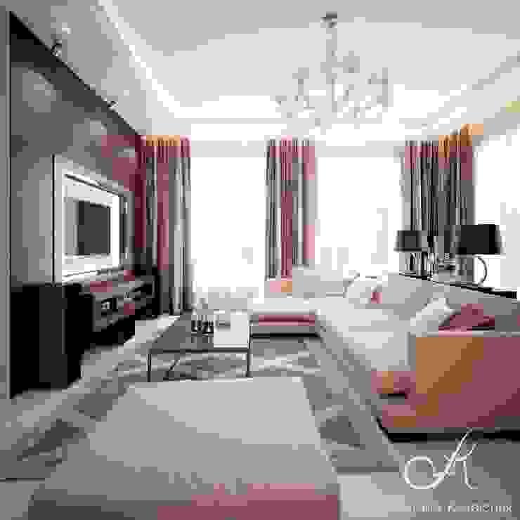 Villa with the pool Modern Living Room by Design studio by Anastasia Kovalchuk Modern