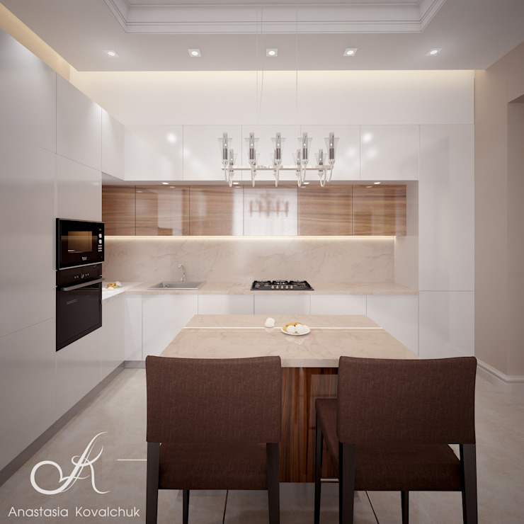 Villa with the pool Modern Kitchen by Design studio by Anastasia Kovalchuk Modern