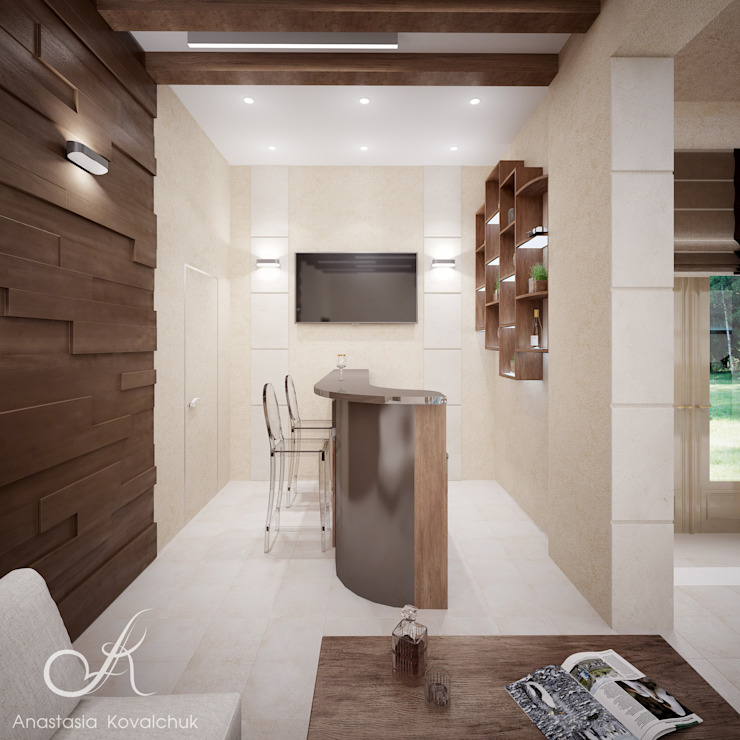 Villa with the pool Modern Pool by Design studio by Anastasia Kovalchuk Modern