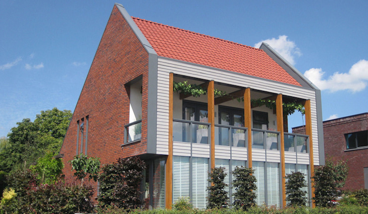 Woning Park Oost, Leidsche Rijn Moderne huizen van Architectenbureau van den Hoeven b.v. Modern