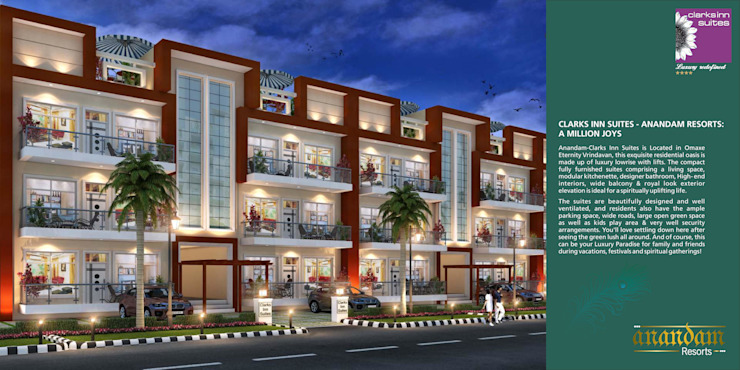 AnanDam Resorts Country style walls & floors by Kansal Constructing Smart Cities Country