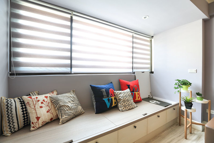 向美式經典致敬--二十年老屋新個性 Country style living room by 微自然室內裝修設計有限公司 Country