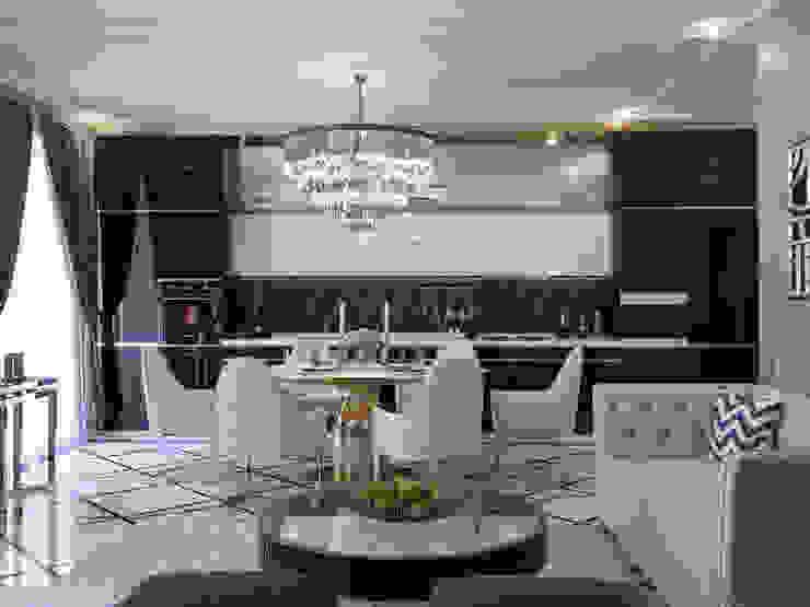 Апартаменты Ар-Деко 126 м Гостиная в стиле модерн от Wide Design Group Модерн