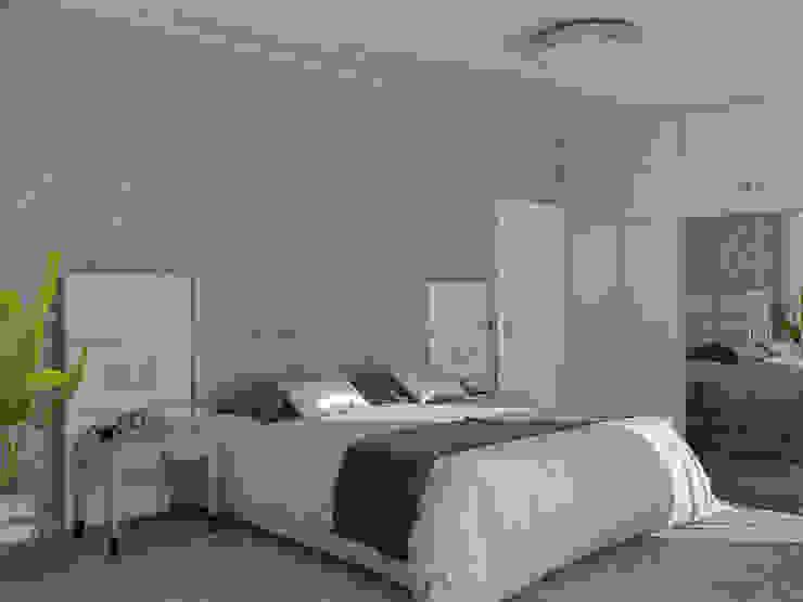 Апартаменты Ар-Деко 126 м Спальня в стиле модерн от Wide Design Group Модерн