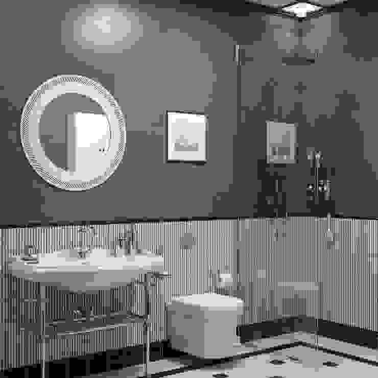 Апартаменты Ар-Деко 126 м Ванная комната в стиле модерн от Wide Design Group Модерн