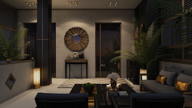 Апартаменты Ар-Деко 126 м Балкон и терраса в стиле модерн от Wide Design Group Модерн