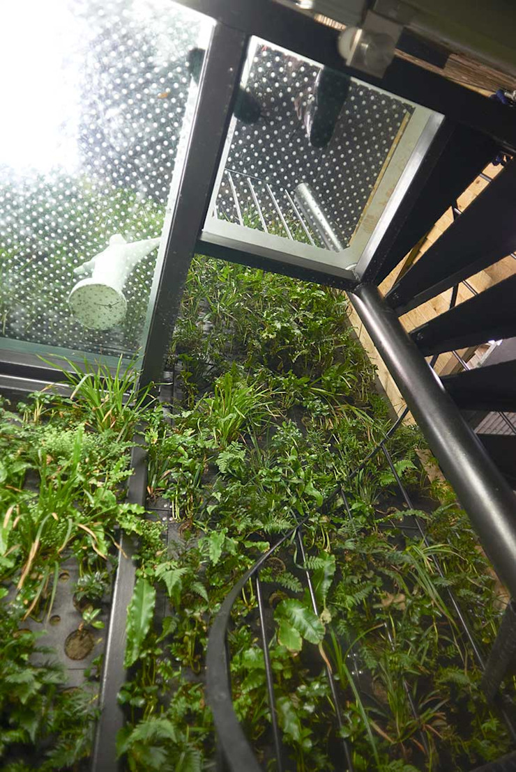 Lodon duplex spiral staircase Modern Terrace by ESTHERRICO Design & Businness Modern