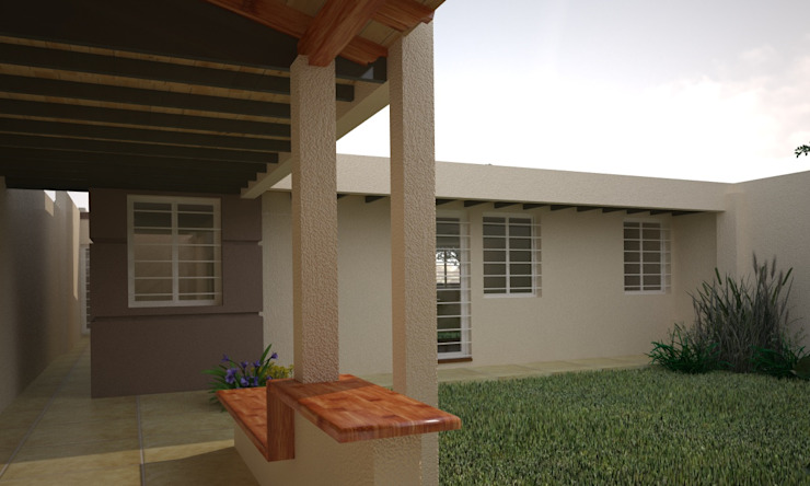 Jardines de estilo moderno de Estudio Barrios Astuto Moderno