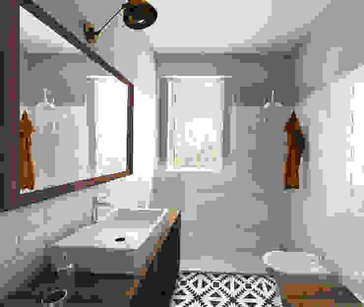 Euga Design Studio Baños de estilo industrial