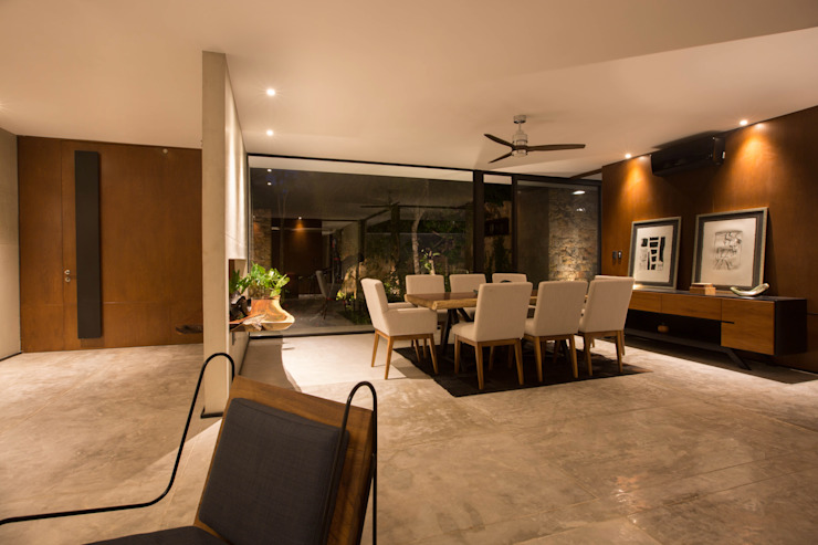 PM Modern Dining Room by FGO Arquitectura Modern Concrete
