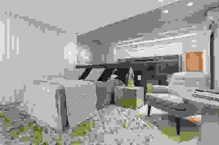 JANAINA NAVES - Design & Arquitetura BedroomAccessories & decoration MDF Amber/Gold