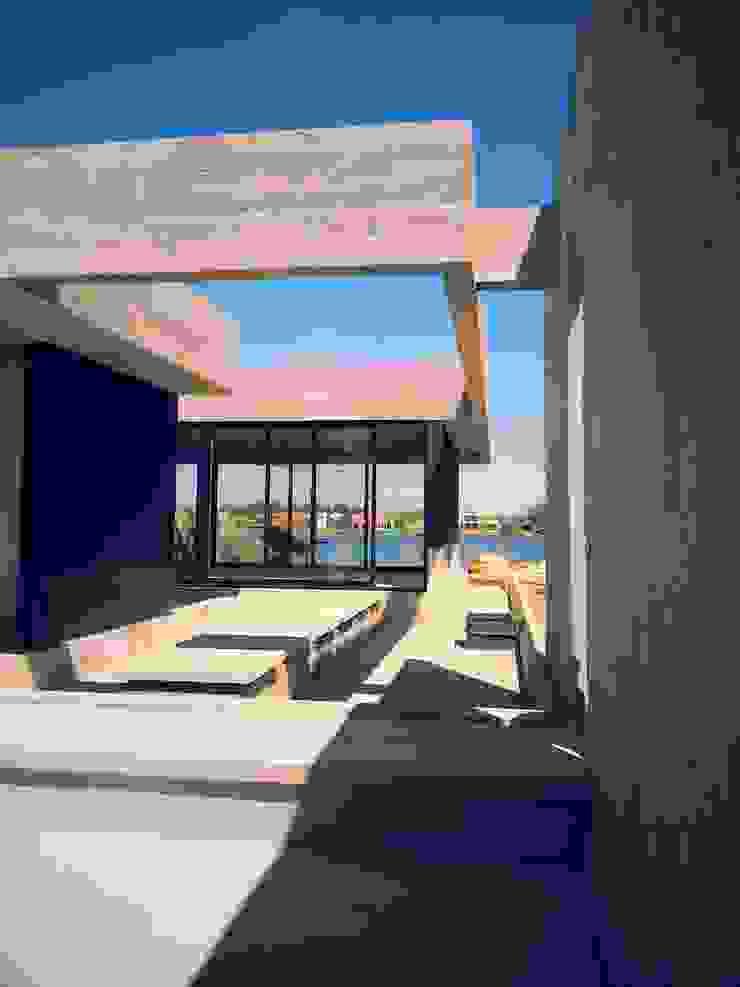 Acceso Pasillos, vestíbulos y escaleras minimalistas de Estudio Morphe Minimalista Hormigón