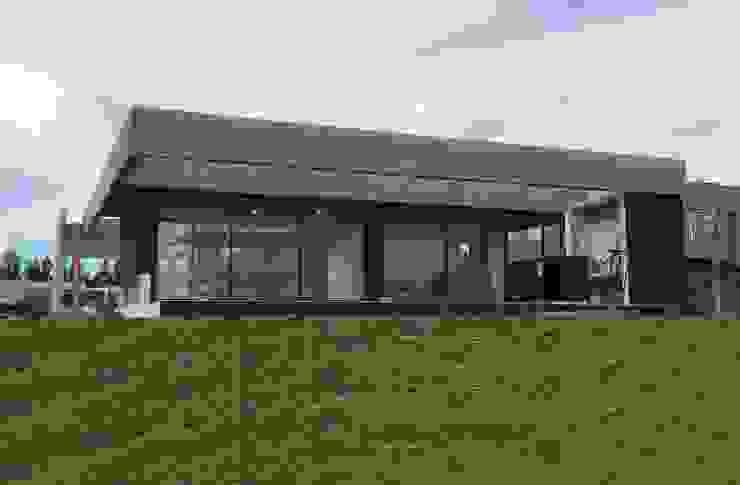 Fachada contrafrente Jardines minimalistas de Estudio Morphe Minimalista Hormigón