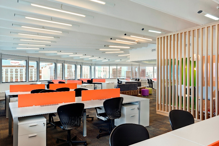 Open Space Oficinas y comercios de estilo moderno de Estudio Morphe Moderno