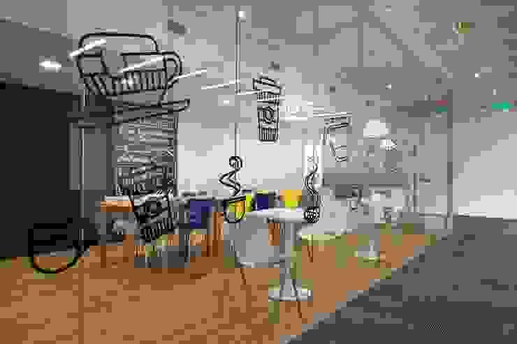 Cafeteria Oficinas y comercios de estilo moderno de Estudio Morphe Moderno