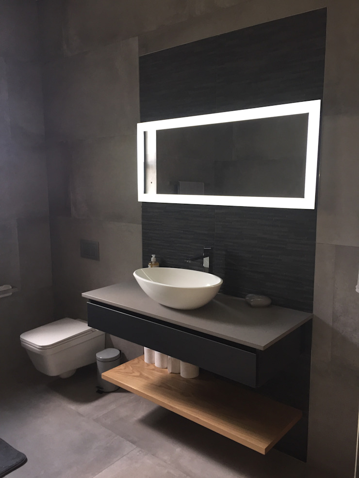 Modern Banyo Graftink Interior and Architectural Design Studio Modern