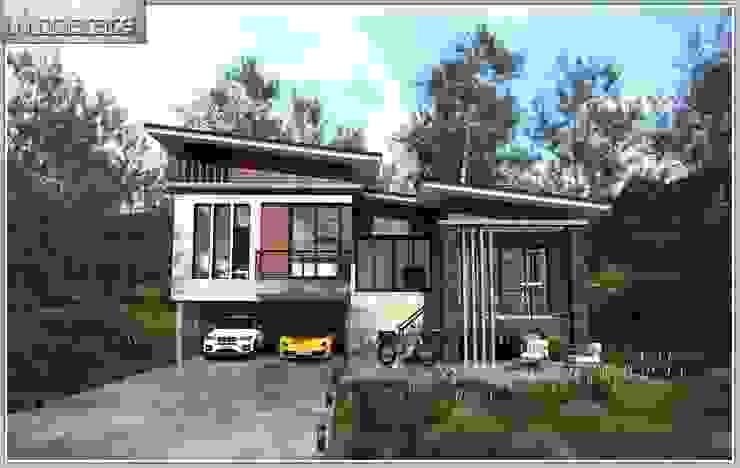 งานก่อสร้างบ้านพักอาศัยโมเดิร์น 4 ห้องนอน 3 ห้องน้ำ โดย หจก.ปัญญาพัฒน์