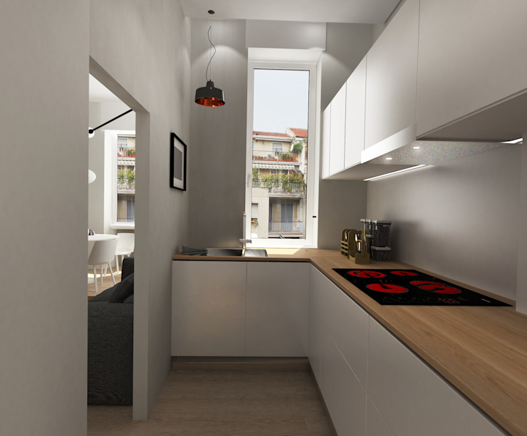 Cucinino Cucina moderna di Euga Design Studio Moderno