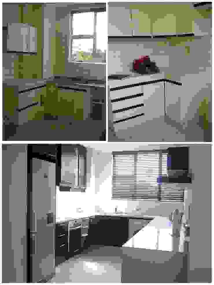 kitchen - before & after: modern  by Kirsty Badenhorst Interiors, Modern