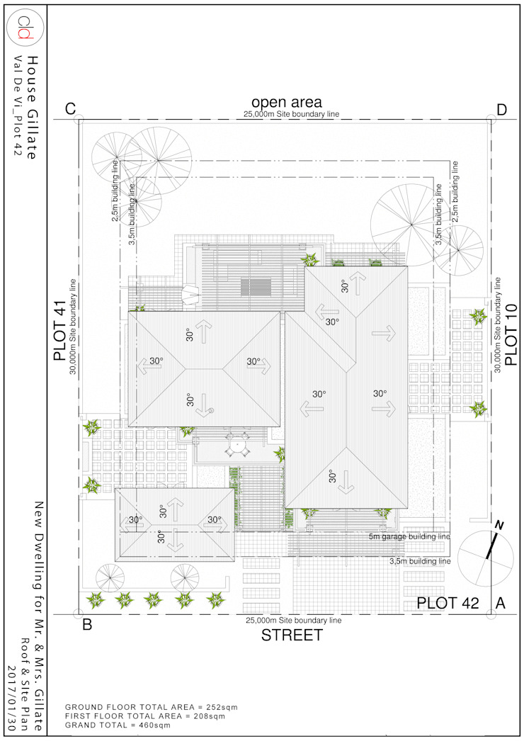 Roof & Site Plan by cld architects