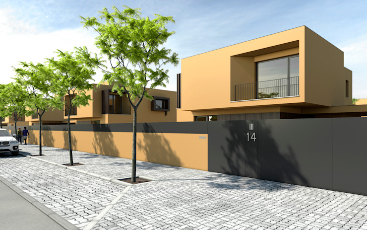 Moradias Unifamiliares em Maputo FILIPE SARAIVA - ARQUITECTOS, LDA Casas modernas