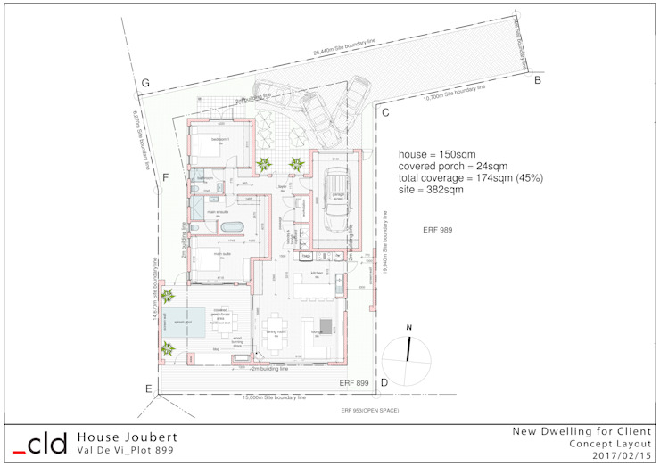 Ground Floor Plan Option 2 by cld architects