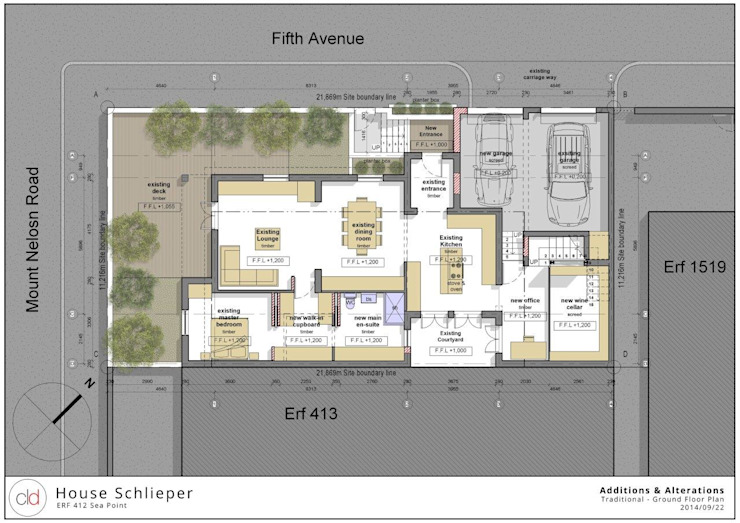 Ground Floor Plan Option 1 by cld architects