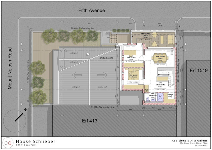 First Floor Plan Option 2 by cld architects