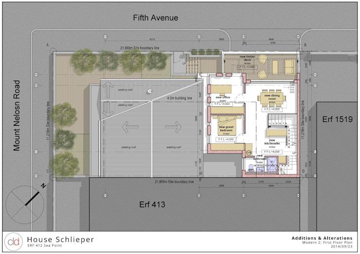 First Floor Plan Option 3 by cld architects