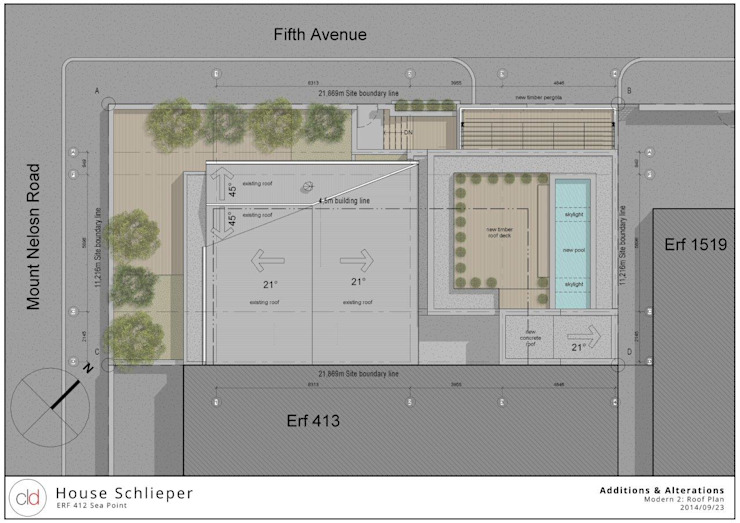 Roof & Site Plan Option 3 by cld architects