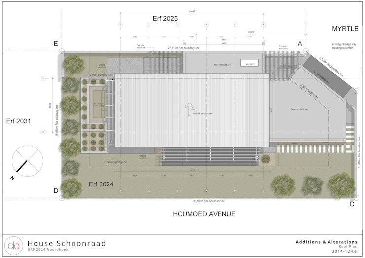 Site & Roof Plan by cld architects