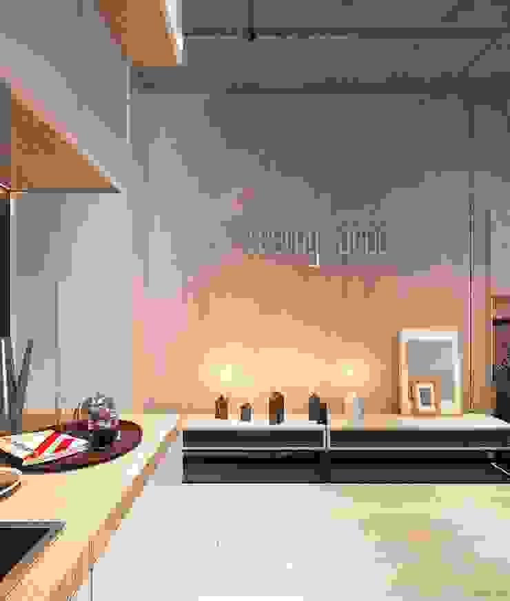Salon minimaliste par Zikzak architects Minimaliste